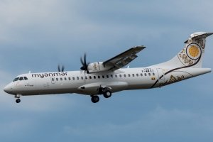 Myanmar National Airlines Economy outside