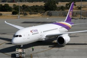 Thai Airways Economy outside